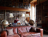 Torquihil Campbell, 13th Duke of Argyll, in the Brown Library, now his study