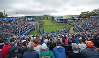 25.09.2014. Gleneagles, Auchterarder, Perthshire, Scotland.  The Ryder Cup.  View of the first tee on the practice round.