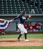 Trevor Hauver plays in the MLB / USA Baseball Prospect Development Pipeline game at Sloan Park on February 5, 2017 in Mesa, Arizona (Bill Mitchell)