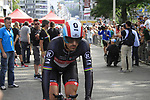 Fabian Cancellara (SUI) Radioshack-Nissan warms up before the Prologue of the 99th edition of the Tour de France starting in Parc d'Avroy Liege, Belgium, 30th June 2012 (Photo by Eoin Clarke/NEWSFILE)