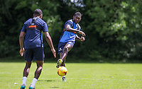 Aaron Pierre during the Wycombe Wanderers 2016/17 Pre Season Training Session at Wycombe Training Ground, High Wycombe, England on 1 July 2016. Photo by Andy Rowland / PRiME Media Images.