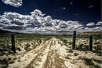 A dirt road leading to Torreon Wash and the Empedrado Wilderness Study Area in the San Juan Basin of northwestern New Mexico