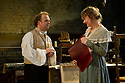 """© Jane Hobson.13/01/2011. Arcola Theatre reopens in its new venue with """"The Painter"""", by Rebecca Lenkiewicz. Toby Jones as Turner and Niamh Cusack as Sarah Danby. Picture credit should read: Jane Hobson"""