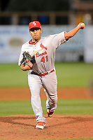 Palm Beach Cardinals relief pitcher Danny Miranda #41 during a game against the Charlotte Stone Crabs at Charlotte Sports Park on April 7, 2013 in Port Charlotte, Florida.  Palm Beach defeated Charlotte 8-1.  (Mike Janes/Four Seam Images)