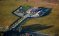 aerial photograph Napa Valley winery in the fall