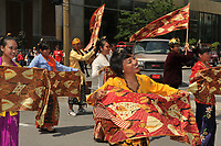 Montreal (Qc) Canada - July 1st 2009 - Canada Day : asian traditional dance