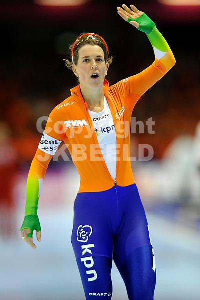 HEERENVEEN - Schaatsen, WK afstanden, Tialf stadion, 1500 meter vrouwen, seizoen 2011-2012, 23-3-2012 Ireen Wust