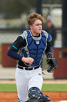 John Combs (14) of Spring City, Tennessee during the Baseball Factory All-America Pre-Season Rookie Tournament, powered by Under Armour, on January 13, 2018 at Lake Myrtle Sports Complex in Auburndale, Florida.  (Michael Johnson/Four Seam Images)