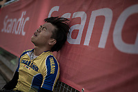 One of the Thai contenders post-finish<br /> <br />  Men Junior Road Race<br /> <br /> UCI 2017 Road World Championships - Bergen/Norway