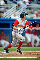 Brooklyn Cyclones outfielder Brandon Nimmo #9 during a game against the Batavia Muckdogs at Dwyer Stadium on July 25, 2012 in Batavia, New York.  Brooklyn defeated Batavia 3-2.  (Mike Janes/Four Seam Images)