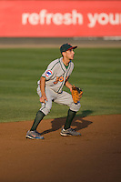 August 6, 2010: Boise Hawks shortstop Elliot Soto (#1) during a Northwest League game against the Everett AquaSox at Everett Memorial Stadium in Everett, Washington.