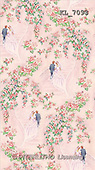 Interlitho, GIFT WRAPS, paintings, couple, stairs, roses(KL7093,#GP#) everyday
