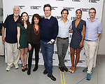 John Tillinger, Talene Monahon, Stockard Channing, Alexi Kaye Campbell, Hugh Dancy, Megalyn Echikunwoke and Daniel Aukin attend the photo call for the Roundabout Theatre Company Production of 'Apologia'  on September 5, 2018 at the Roundabout Rehearsal Studios in New York City.