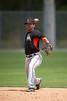 Miami Marlins Giovanny Alfonzo (72) during practice before a minor league Spring Training intrasquad game on March 31, 2016 at Roger Dean Sports Complex in Jupiter, Florida.  (Mike Janes/Four Seam Images)
