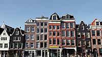 Nederland  Amsterdam -  2020.   Huizen in het centrum.  Foto : ANP/ HH / Berlinda van Dam