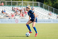 CARY, NC - SEPTEMBER 12: Denise O'Sullivan #8 of the NC Courage controls the ball during a game between Portland Thorns FC and North Carolina Courage at Sahlen's Stadium at WakeMed Soccer Park on September 12, 2021 in Cary, North Carolina.