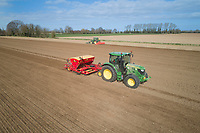 Drilling spring barley - Lincolnshire, March