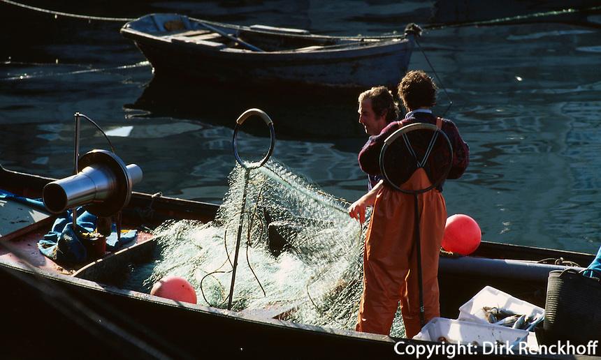 Fischer in La Coruna, Galicien, Spanien