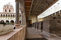 Peru, Cusco.  Santo Domingo Monastery, Built on and around Remains of Qorikancha, Inca Temple of the Sun.