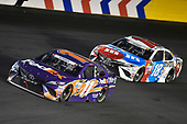 Monster Energy NASCAR Cup Series<br /> Coca-Cola 600<br /> Charlotte Motor Speedway, Concord, NC USA<br /> Sunday 28 May 2017<br /> Denny Hamlin, Joe Gibbs Racing, FedEx Office Toyota Camry and Kyle Busch, Joe Gibbs Racing, M&M's Red, White & Blue Toyota Camry<br /> World Copyright: Nigel Kinrade<br /> LAT Images<br /> ref: Digital Image 17CLT2nk10198
