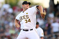 August 10, 2009: Brad Knox of the Salt Lake Bees, Pacific Cost League Triple A affiliate of the Los Angeles (Anaheim) Angles, during a game at the Spring Mobile Ballpark in Salt Lake City, UT.  Photo by:  Matthew Sauk/Four Seam Images