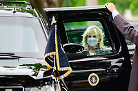 First Lady Jill Biden enters the presidential limo after arriving to the White House after a visit to Virginia, in Washington, D.C., U.S., on Monday, May 3, 2021. Biden's $4 trillion vision of remaking the federal government's role in the U.S. economy is now in the hands of Congress, where both parties see a higher chance of at least some compromise than for the administration's pandemic-relief bill. <br /> CAP/MPI/RS<br /> ©RS/MPI/Capital Pictures