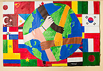 world community poster made by high school students.
