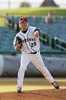 May 9, 2010: Mike Modica of the Lancaster JetHawks during game against the Inland Empire 66'ers at Clear Channel Stadium in Lancaster,CA.  Photo by Larry Goren/Four Seam Images