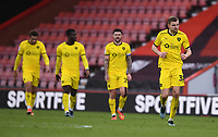 13th March 2021; Vitality Stadium, Bournemouth, Dorset, England; English Football League Championship Football, Bournemouth Athletic versus Barnsley; Barnsley celebrate after scoring in 80th minute 2-3