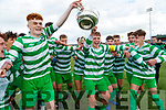 Killarney Celtic team celebrate after winning at the FAI Youth final Mounthawk Park between Killarney Celtic and Douglas Hill at Mounthawk, Tralee on Sunday.
