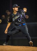La Mirada pitcher Jared Jones (17) during a High School baseball game on February 19, 2020 in La Mirada, California.  (Terry Jack/Four Seam Images)