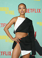 LOS ANGELES, CA - OCTOBER 13: Karrueche Tran, at the Special Screening Of The Harder They Fall at The Shrine in Los Angeles, California on October 13, 2021. Credit: Faye Sadou/MediaPunch