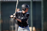 Justin Fraleigh during the Under Armour All-America Pre-Season Tournament, powered by Baseball Factory, on January 19, 2019 at Fitch Park in Mesa, Arizona.  Justin Fraleigh is a shortstop from Rocky Hill, Connecticut who attends Rocky Hill High School.  (Mike Janes/Four Seam Images)