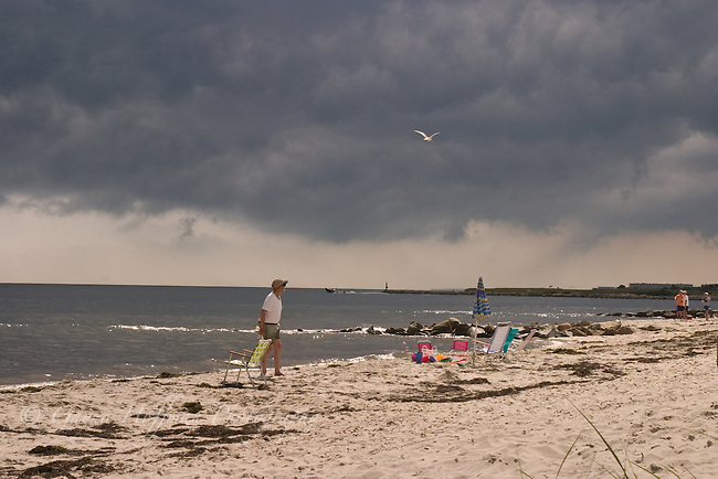 Harwichport Beach, storm clouds. Harwichport, MA