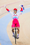 Denis Dmitriev of Russia celebrates winning in the Men's Sprint Finals - 2nd Race during the 2017 UCI Track Cycling World Championships on 15 April 2017, in Hong Kong Velodrome, Hong Kong, China. Photo by Chris Wong / Power Sport Images