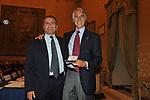 PAOLO CUCCIA CON GIOVANNI MALAGO'<br /> PREMIO GUIDO CARLI - SECONDA EDIZIONE<br /> PALAZZO DI MONTECITORIO - SALA DELLA REGINA ROMA 2011