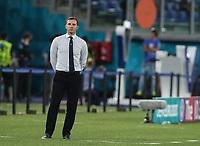 3rd July 2021, Stadio Olimpico, Rome, Italy;  Euro 2020 Football Championships, England versus Ukraine quarter final;   Andriy Shevchenko, head coach of Ukraine reacts as England take the lead
