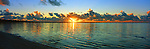 Kiribati Panorama - Sunrise on the lagoon in Kiritimati (Christmas Island), Kiribati <br /> <br /> Image taken on large format panoramic 6cm x 17cm transparency. Available for licencing and printing. email us at contact@widescenes.com for pricing.