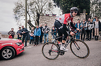 ridiculously steep climb towards the finish with Jelle Wallays (BEL/Lotto-Soudal)<br /> <br /> 76th Paris-Nice 2018<br /> stage 6: Sisteron > Vence (198km)