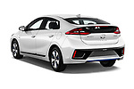 Car pictures of rear three quarter view of a 2017 Hyundai Ioniq Plug-In Hybride Executive 5 Door Hatchback angular rear