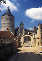 France, castle, Chateaudun, Eure-et-Loir, Europe, 12th century castle in Chateaudun.