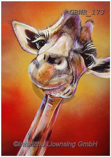 Simon, REALISTIC ANIMALS, REALISTISCHE TIERE, ANIMALES REALISTICOS, innovative, paintings+++++AdamBarsby_SmileHigh,giraffe,,GBWR173,#a#, EVERYDAY