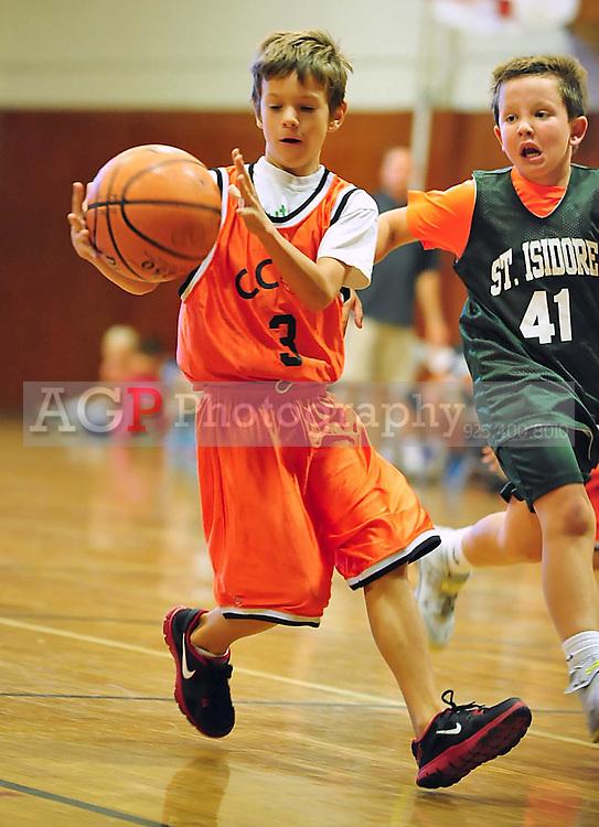 Third grade CCOP Basketball in Pleasanton, CA January 2014.