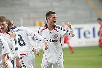 Steffen Schneider (FC Bayern M¸nchen) jubelt ¸ber sein Tor zum 1:2