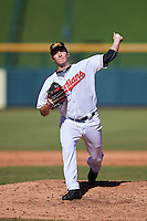 Mesa Solar Sox pitcher David Speer (37), of the Cleveland Indians organization, during a game against the Scottsdale Scorpions on October 18, 2016 at Sloan Park in Mesa, Arizona.  Mesa defeated Scottsdale 6-3.  (Mike Janes/Four Seam Images)