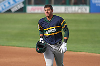 Beloit Snappers infielder Edwin Diaz (4) during a Midwest League game against the Wisconsin Timber Rattlers on May 30th, 2015 at Fox Cities Stadium in Appleton, Wisconsin. Wisconsin defeated Beloit 5-3 in the completion of a game originally started on May 29th before being suspended by rain with the score tied 3-3 in the sixth inning. (Brad Krause/Four Seam Images)
