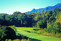 Hole No. 13 of the Princeville Prince golf course, the architect of which is Robert Trent Jones II, on Kauai