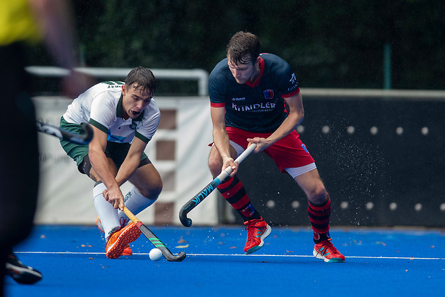 Krefeld, Germany, August 28: During the men semi-final fieldhockey match between Uhlenhorst Muelheim and Berliner HC on August 28, 2021 at the 1. Liga-Cup at Crefelder HTC in Krefeld, Germany. (Photo by Dirk Markgraf / www.265-images.com) *** Local caption ***