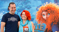 "Il regista statunitense Mark Andrews e la cantante Noemi, interprete della colonna sonora, posano durante il photocall per la presentazione del nuovo film di animazione della Disney-Pixar ""Ribelle - The Brave"" a Roma, 27 giugno 2012..U.S. director Mark Andrews and italian singer Noemi, who played the italian version sound track, pose during the photocall for the presentation of the new Disney-Pixar animation movie ""The Brave"" in Rome, 27 june 2012..UPDATE IMAGES PRESS/Isabella Bonotto"