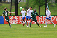 Elise Weber, Chioma Igwe #2,Tina Ellertson...Saint Louis Athletica  tied 1-1 with Boston Breakers at Anheuser-Busch Soccer Park, Fenton, MO.